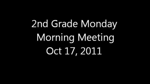 Thumbnail for entry Monday Morning Meeting