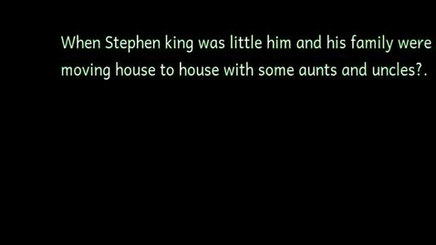 Thumbnail for entry Stephen king luis o