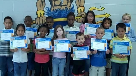 Thumbnail for entry Pass Road Elementary August Terrific Kids!