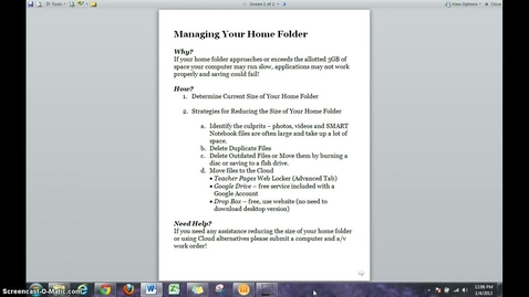 Thumbnail for entry How To Manage Your Home Folder