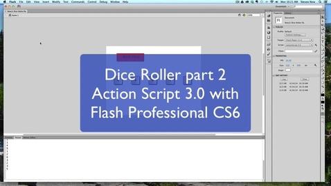 Thumbnail for entry Action Script 3.0 Dice Roller Part 2