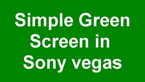 Thumbnail for entry Simple Green Screen Tutorial