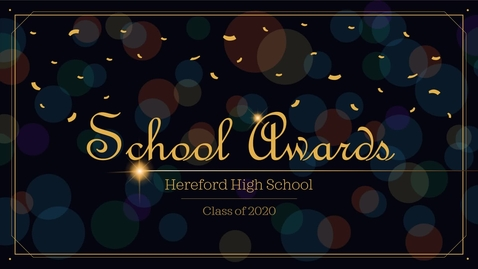 Thumbnail for entry Awards Presentation (2020)