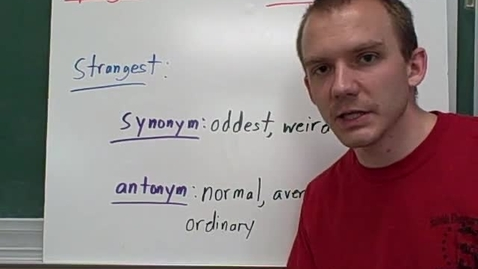 Thumbnail for entry er, est synonyms and antonyms