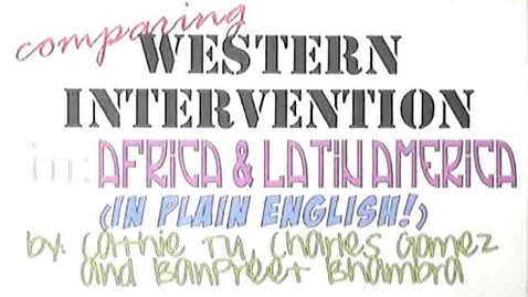 Thumbnail for entry Comparing Western Intervention in Africa and Latin America