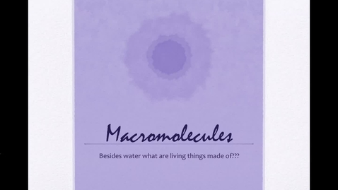 Thumbnail for entry Macromolecules Video