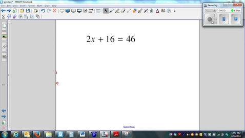 Thumbnail for entry Solving Multi-Step Equations 01 simple
