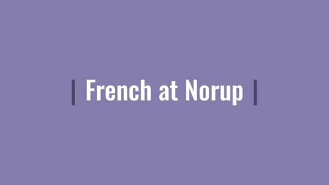 Thumbnail for entry French at Norup