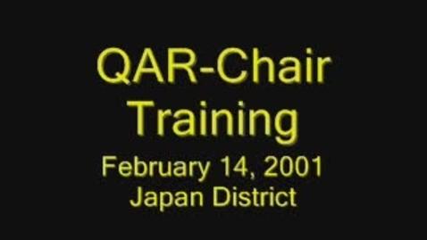 Thumbnail for entry QAR-Chair Training Part I