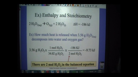 Thumbnail for entry Thermodynamics 6 - Molar Enthalpies
