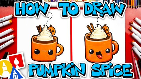Thumbnail for entry How To Draw Pumpkin Spice Hot Chocolate