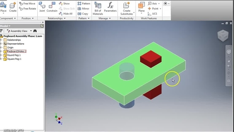 Thumbnail for entry Creating Parts in an Assembly File (Inventor)