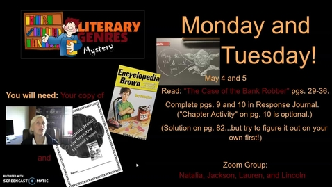 Thumbnail for entry Mystery Genre: Encyclopedia Brown, Week 4