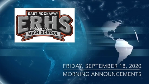 Thumbnail for entry ERHS Morning Announcements 9-18-20