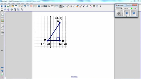 Thumbnail for entry Triangles on a Coordinate Grid, basic - Find the length of a side Q2, Q3, Q4