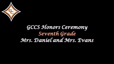 Thumbnail for entry Seventh Grade Honors Day Awards.mp4