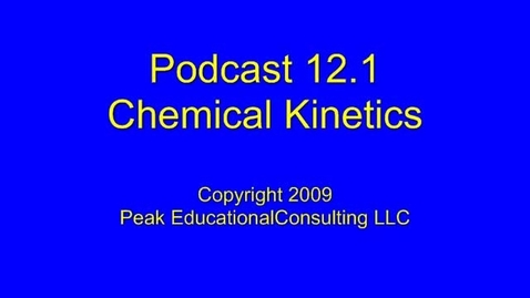 Thumbnail for entry AP Chem 12.1 Rate Law