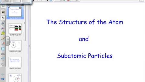Thumbnail for entry Atomic Structure