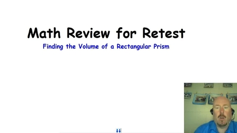 Thumbnail for entry Finding the Volume of Rectangular Prisms