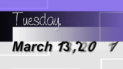 Thumbnail for entry Tuesday, March 13, 2012