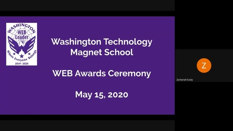 Thumbnail for entry Washington WEB Awards Ceremony May 2020