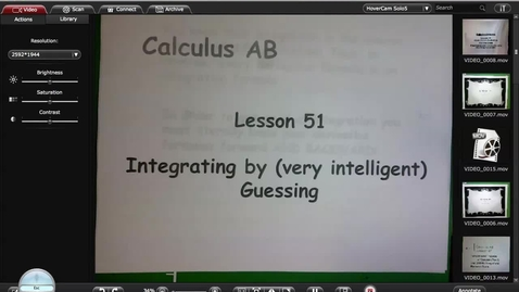 Thumbnail for entry Calc A Lesson 51