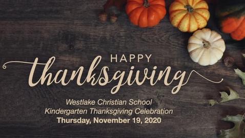 Thumbnail for entry WCS Kindergarten Thanksgiving 11-19-2020