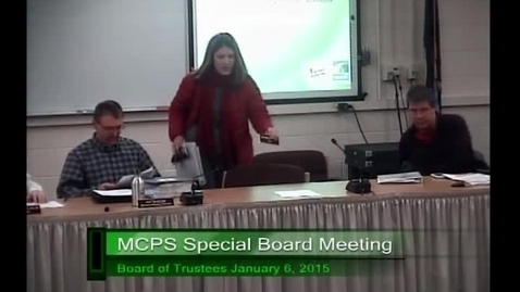 Thumbnail for entry MCPS Special Meeting Work Session Jan 6 2015