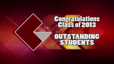 Thumbnail for entry 2013 CVCC Outstanding Students