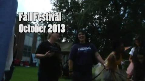 Thumbnail for entry 2013 Fall Festival
