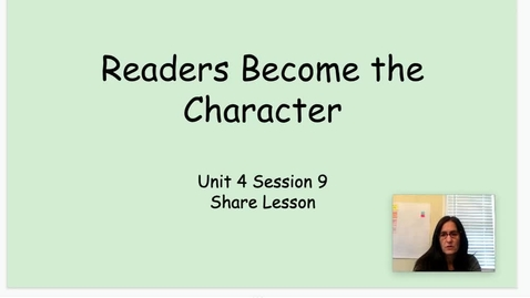 Thumbnail for entry RW Unit 4 Session 8 - Share Lesson