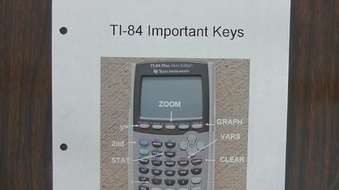 Thumbnail for entry Alg 2 TI-84 Scatter Plots & Lines of Best Fit