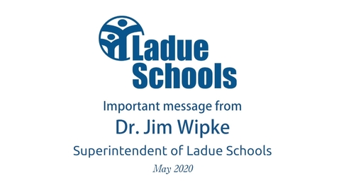 Thumbnail for entry Dr. Jim  Wipke Message to Parents