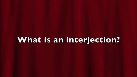 Thumbnail for entry Interjections