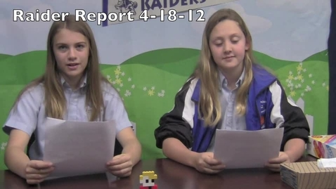 Thumbnail for entry Raider Report 4-18-12