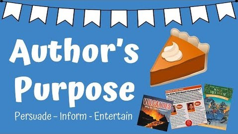 Thumbnail for entry Author's Purpose with PIE