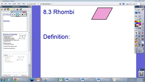 Thumbnail for entry 8.3 Rhombi Notes