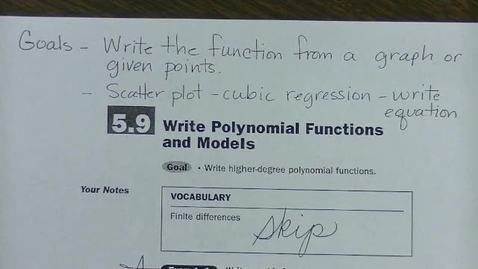Thumbnail for entry Alg 2 Sec 5.9 - Write Polynomial Functions