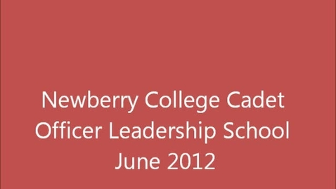 Thumbnail for entry Newberry College AFJROTC COLS 2012