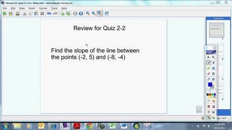 Thumbnail for entry Review for Quiz 2-2