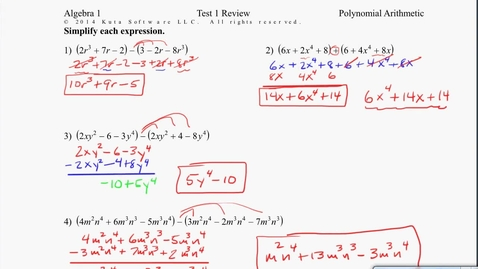 Thumbnail for entry Algebra1B Test 1 Review #5-8