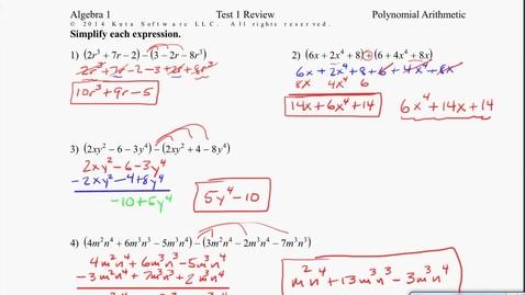 Thumbnail for entry Algebra1B Test 1 Review #5-8