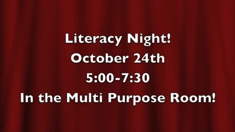 Thumbnail for entry Literacy Night @ OSD