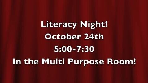 Thumbnail for entry Literacy Night @ OSD