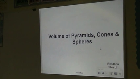 Thumbnail for entry PA Lesson 12-4 Volume of Pyramids, Cones, & Spheres