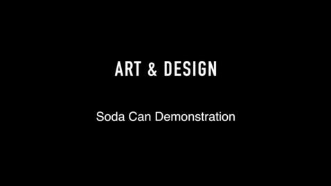 Thumbnail for entry Art and Design Soda Can