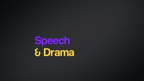 Thumbnail for entry Speech and Drama: 2012-2013