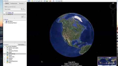 Thumbnail for entry Making a Tour in Google Earth