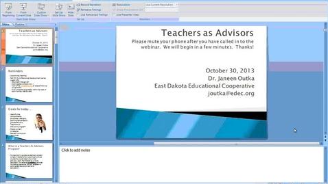 Thumbnail for entry SD Teachers as Advisors