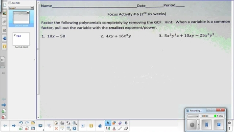 Thumbnail for entry Systems of equations lesson pt 3    10-29-14